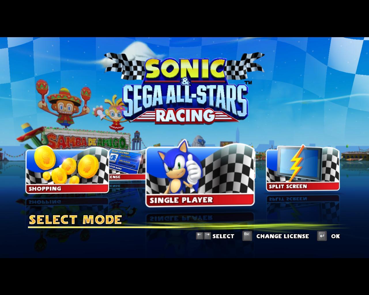 sonic and sega all stars racing pc download full version