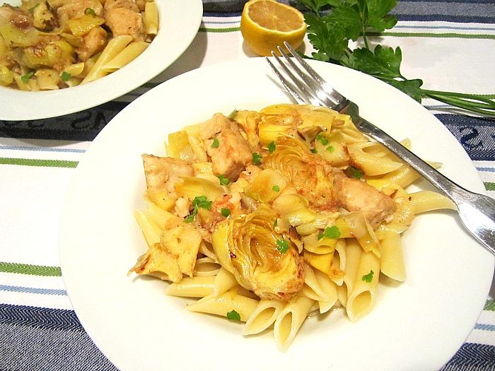 ... Snacks: What's for Dinner? Chicken w/ Artichokes in White Wine Sauce