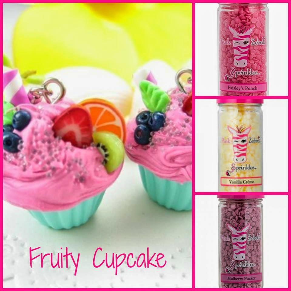 fruity cupcake pink zebra sprinkle recipe image