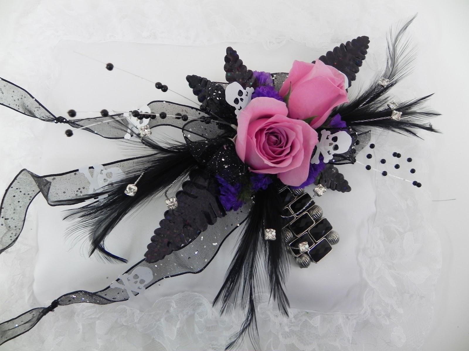 Sugar Skulls Corsage By Gillespie Florists