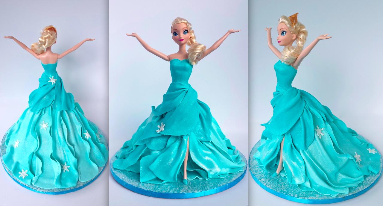 Doll Cake Tin Elsa Doll Cake Tutorial