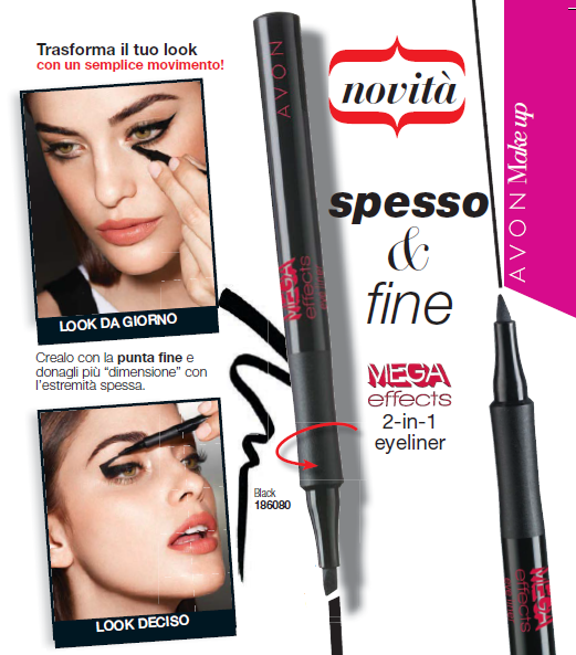 EYELINER LIQUIDO 2in1 MEGA EFFECTS di AVON - Avon Shop Online
