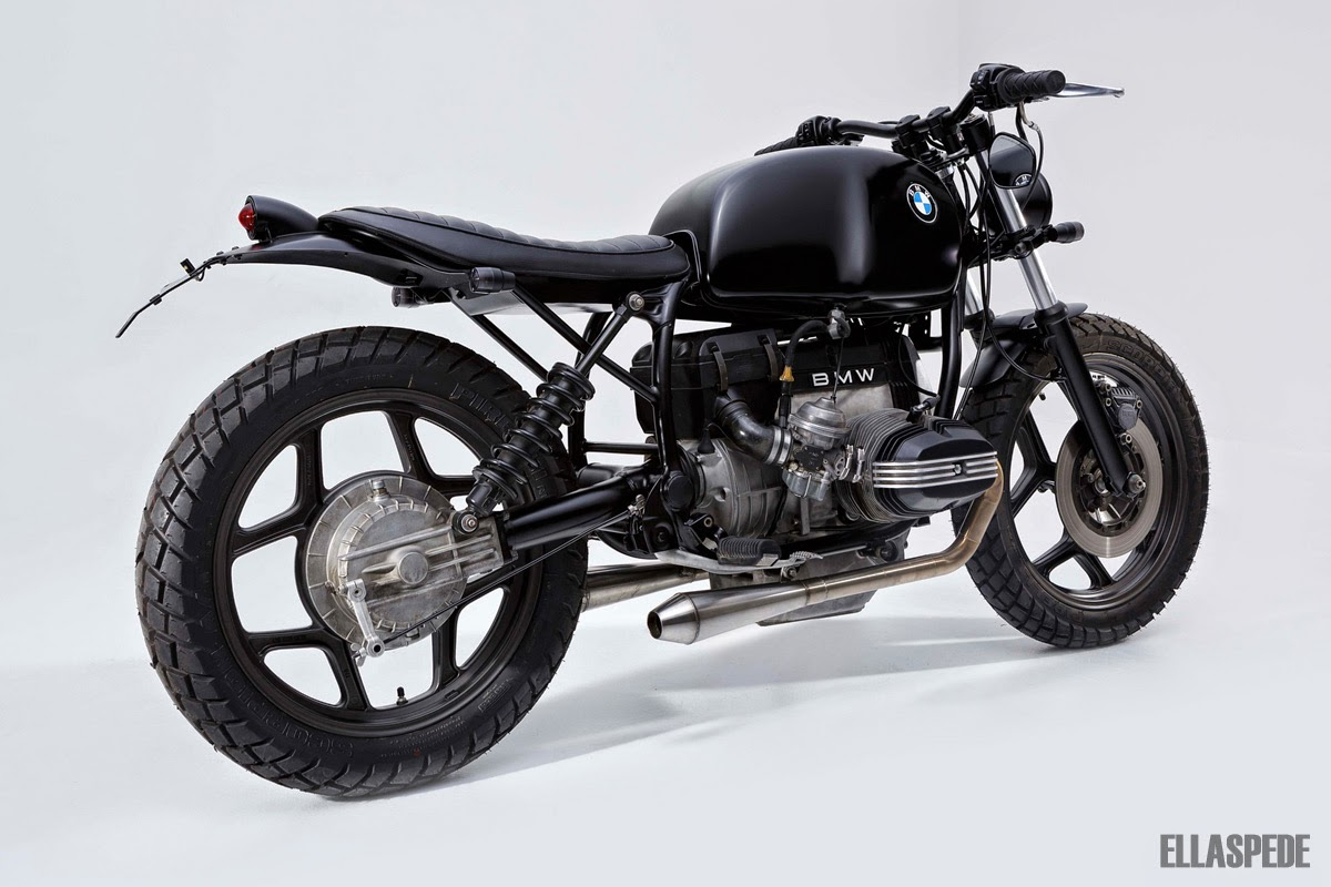 cafe racer special bmw r65 scrambler by ellaspede. Black Bedroom Furniture Sets. Home Design Ideas