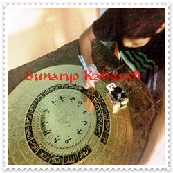 proses kaligrafi jam