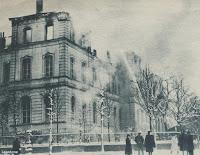 Kortrijks gerechtsgebouw ten prooi gevallen aan immense vuurzee op 21 december 1938