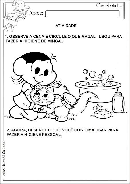 Atividade Higiene e Saúde Banho