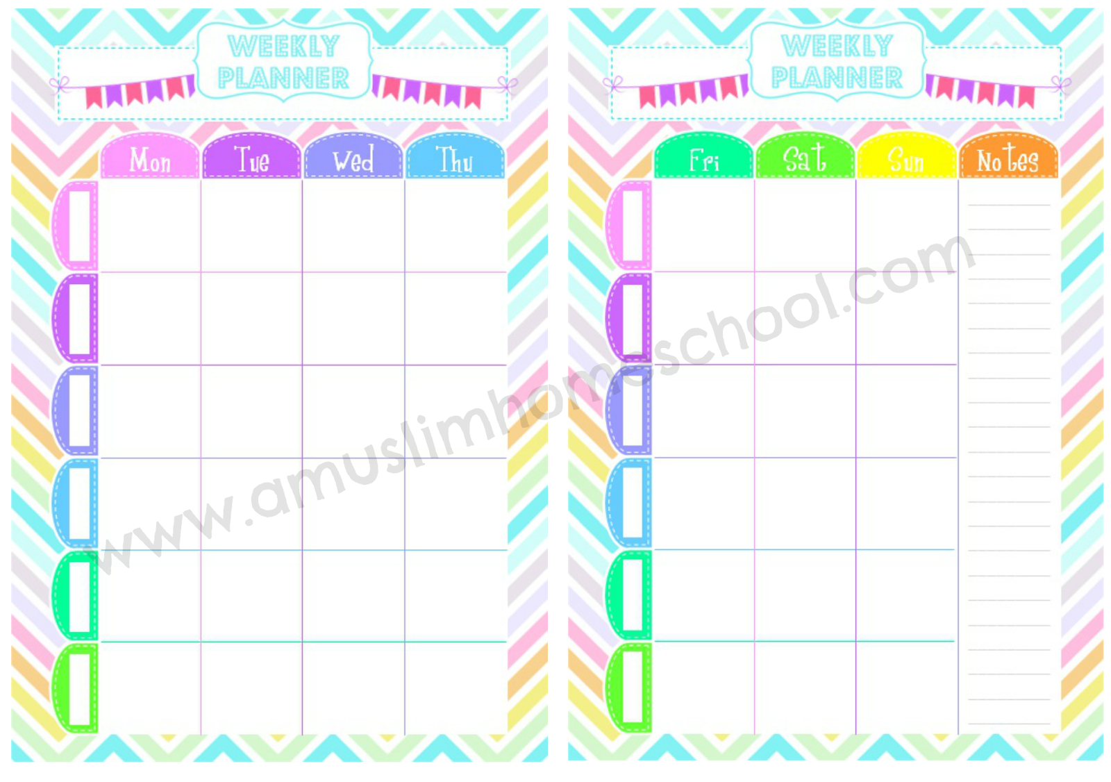muslim homeschool: Free weekly planner printable for home or school!