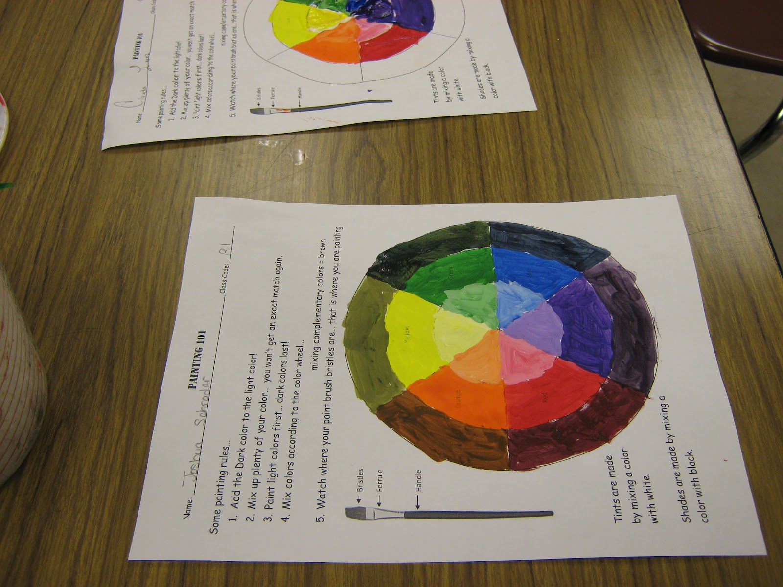 Art In The Middleschool February 2012 25 Best Color Wheel Projects Ideas