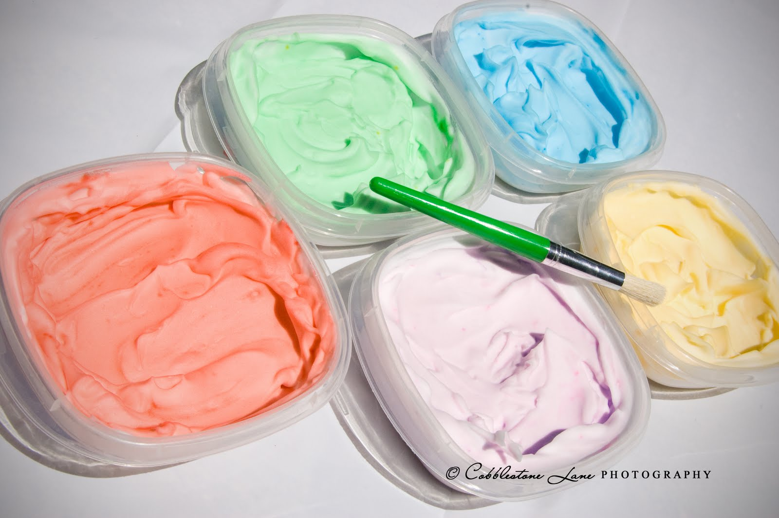 The nature of grace homeschool painting with shaving for Shaving cream paint