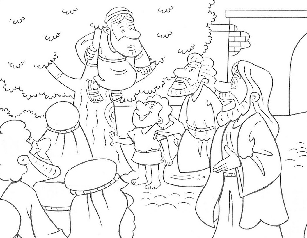 zaqueo coloring pages - photo #8