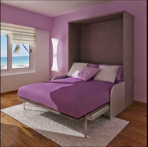 Contoh Kamar Modern Yang Menyatu Pada Warna Dinding Interior