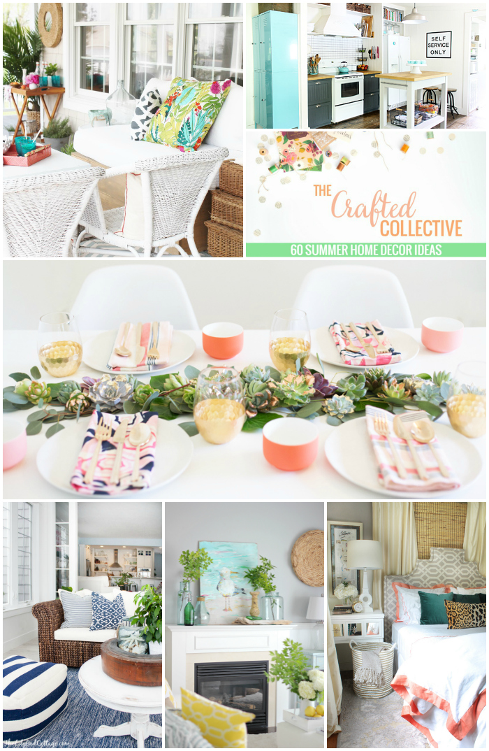 60 Summer Home Decor Ideas--From kitchens to bedrooms, tons of ideas to spruce up your home for summer! www.pitterandglink.com