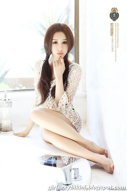 Jianuo sexy legs, beautiful models bath according