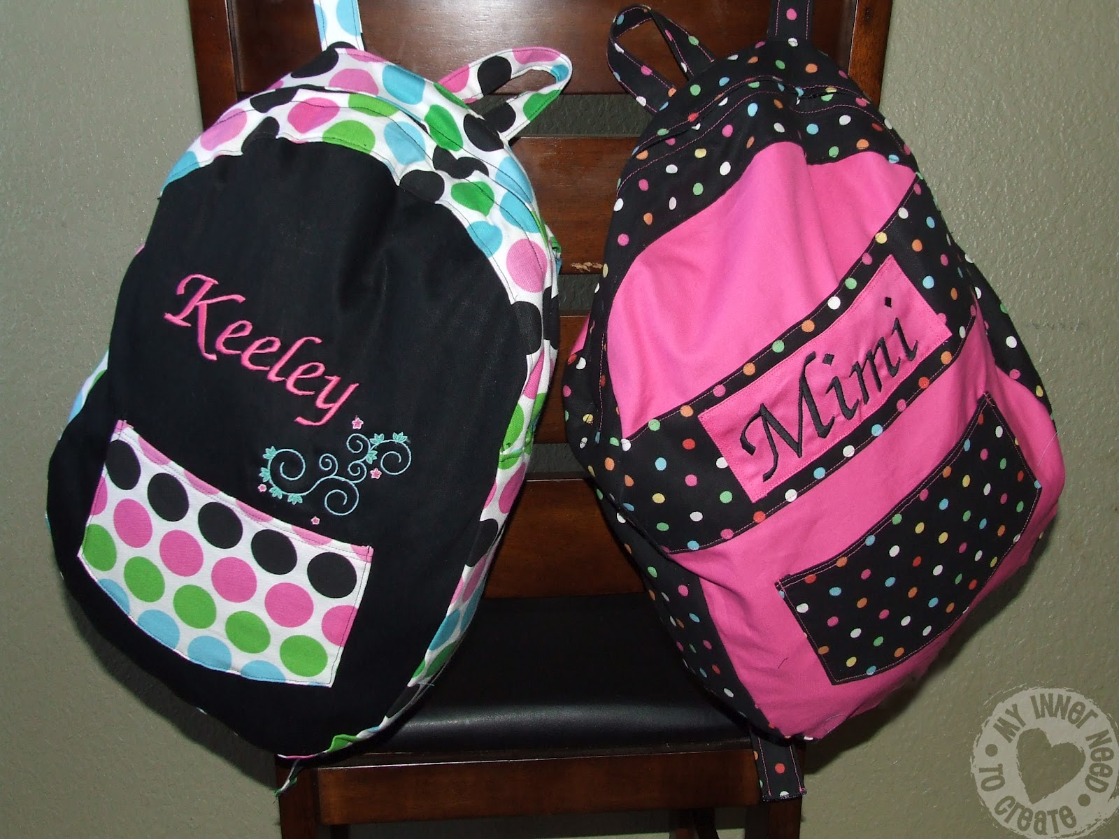 Girls Personalized Backpack - Crazy Backpacks