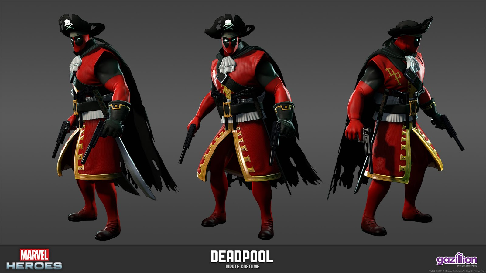 Deadpool costume has been announced for the upcoming Marvel Heroes
