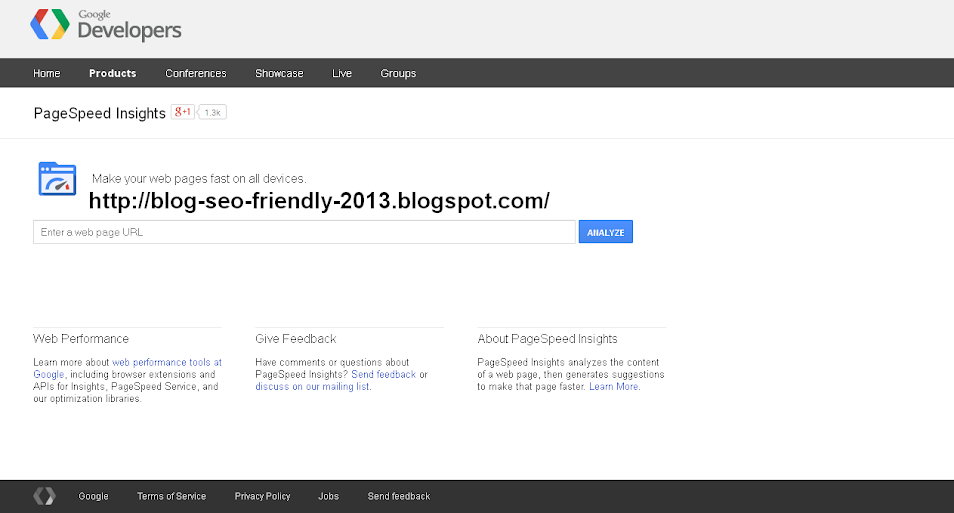 Mengetahui pagespeed blog dari Google Analytics
