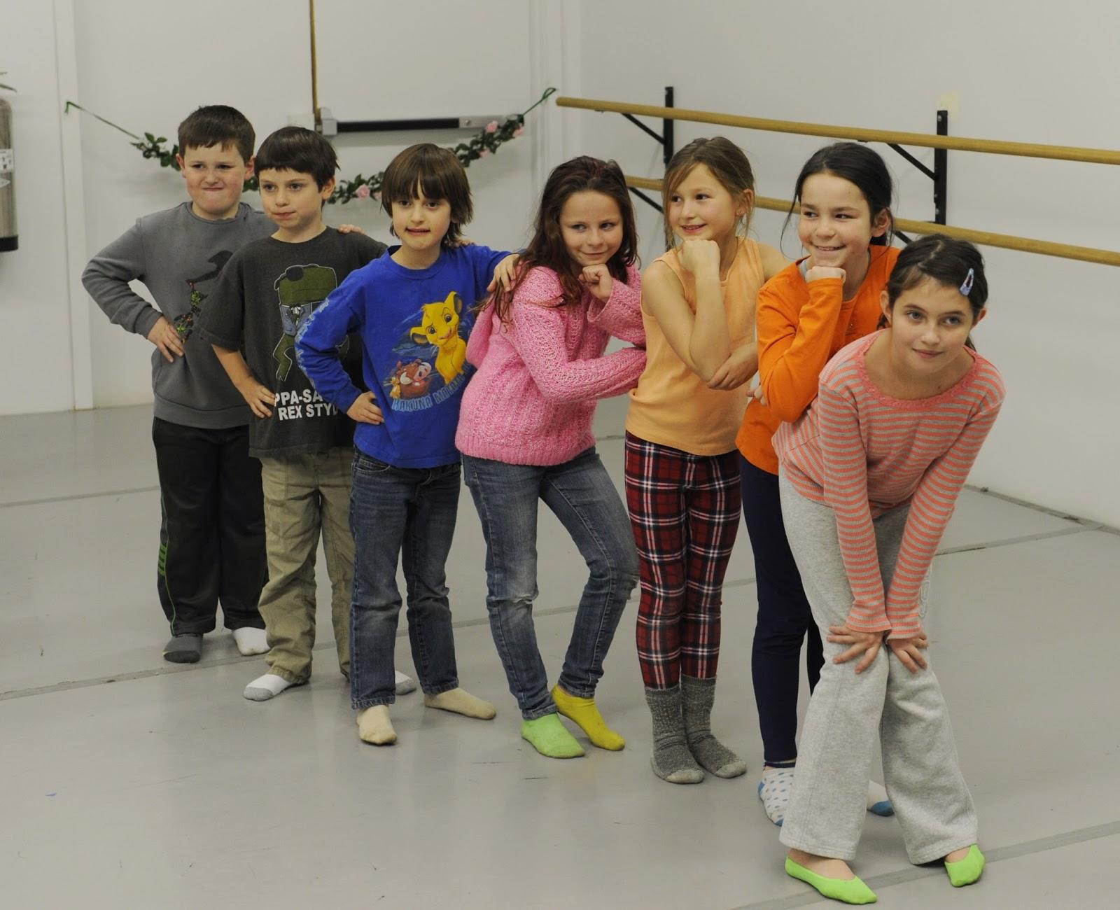 Children in PVB's dance studio