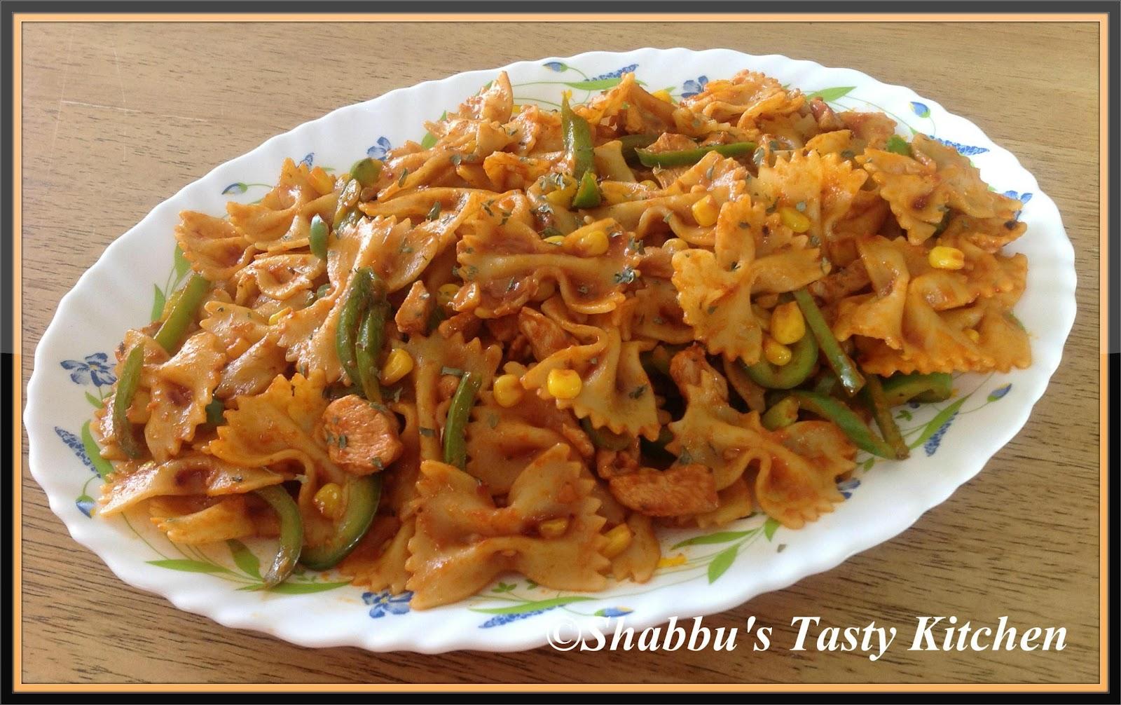 shabbu s tasty kitchen bow tie pasta with chicken