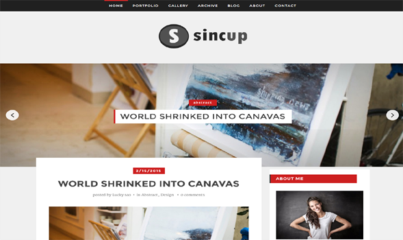 SinCup Magazine Theme for Blogger