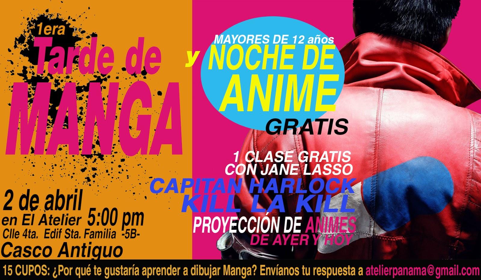 Tarde de manga y noche de Anime en Panamá