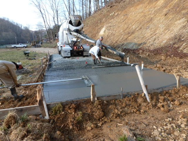 Mike and lisa 39 s world chapter 143 pouring the concrete for How to clean concrete slabs