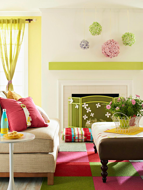 Modern Interior Bright And Colorful Living Room Design Ideas