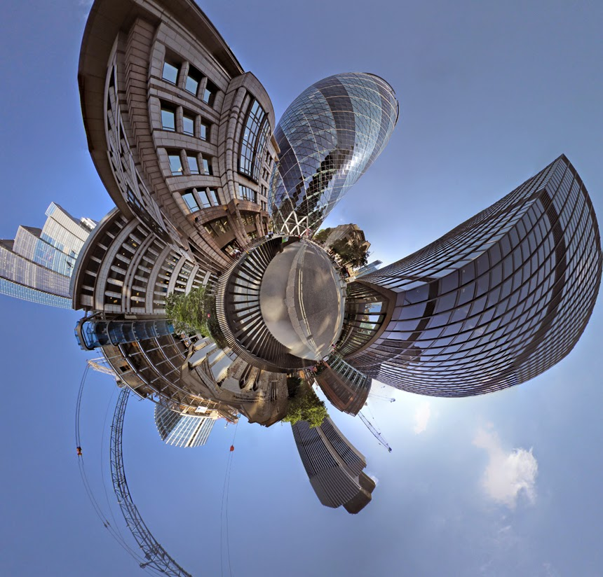 stereographic london igor fain  little planet gherkin