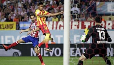 gol de Neymar com Barça na Supercopa da Espanha 2013
