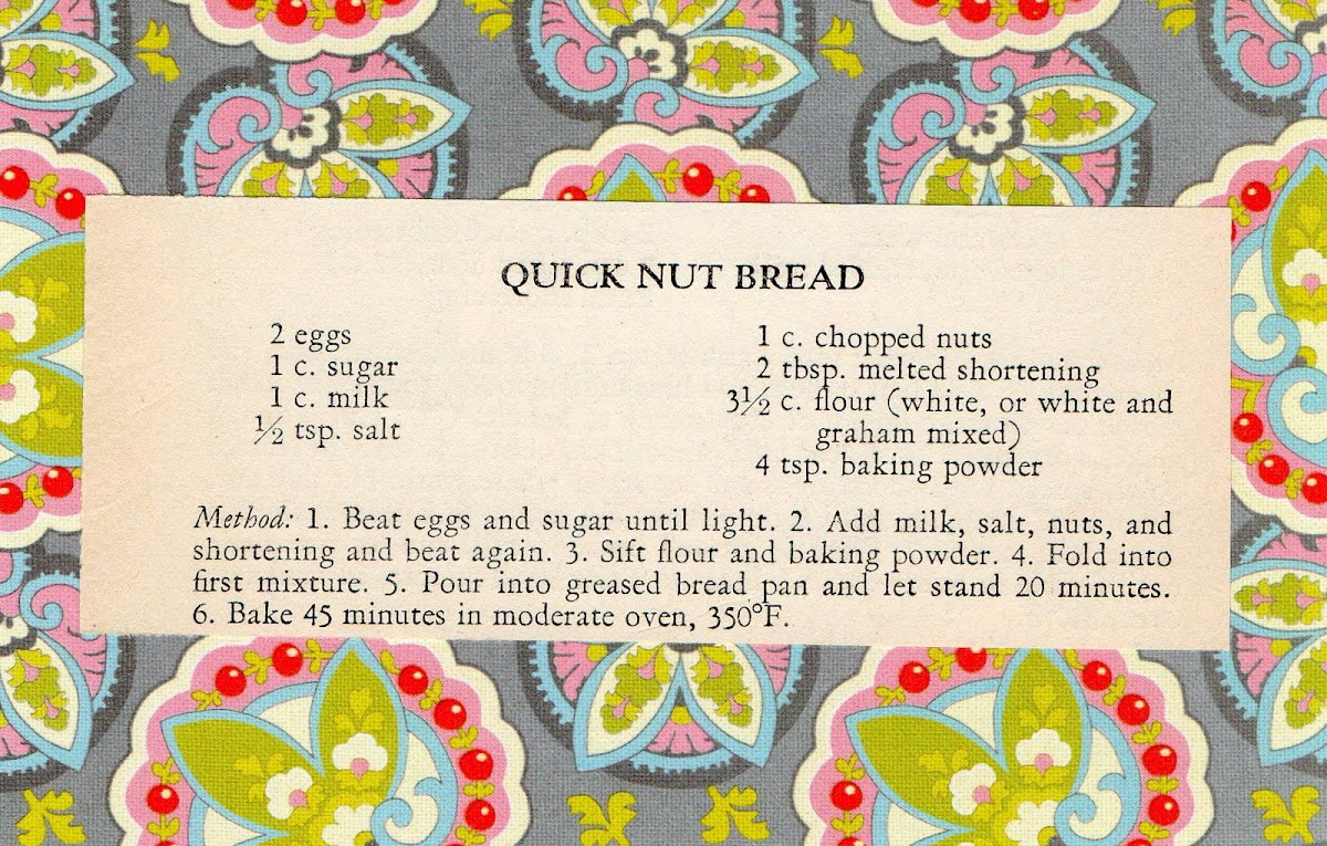 Quick Nut Bread (quick recipe)
