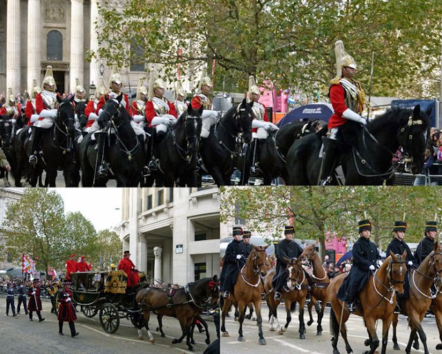 Household Cavalry, Royal Horse Artillery, carriages, Lord Mayor's Show