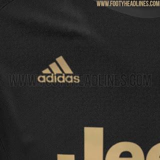 Detail jersey Juventus Adidas third terbaru musim 2015/2016