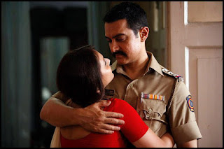 Aamir Khan as Inspector Surjan Singh Sekhawat, Rani Murerji as Surjan's wife Roshni, Directed by Reema Kagti
