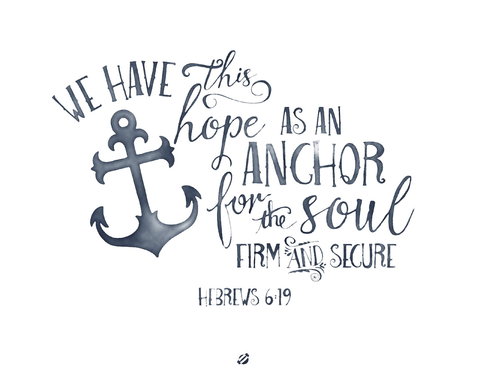 Superb LostBumblebee ©2015 MDBN : Hope Is An Anchor Hebrews 6:19 : Free Donate Idea