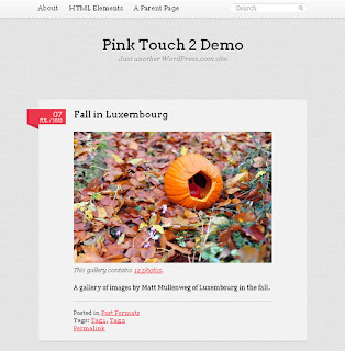 WordPress-Template Pink Touch 2