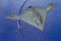 Pesawat Drone baru X-47B dimuat pada kapal induk AS untuk pengujian