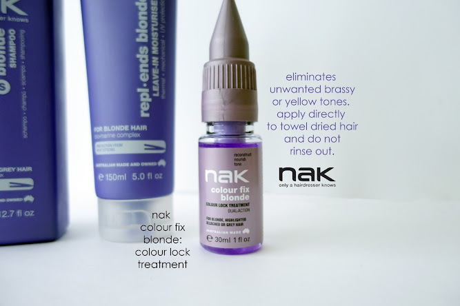 Nak Hair Products Colour Fix Blonde