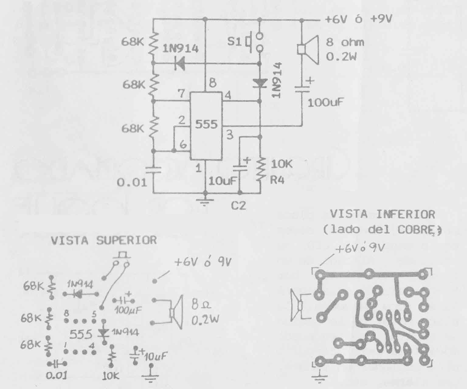 Circuito Y : Circuitos electrónicos para armar gratis circuito timbre ding dong