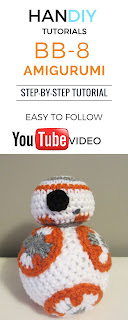Free BB-8 Amigurumi Crochet Pattern with Step-by-step Video Tutorial bb8 amigurumi
