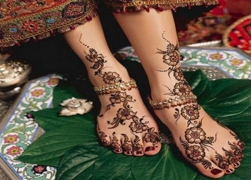 Mehndi Design Leg And Hand : Mehndi design for hands leg with hand parties