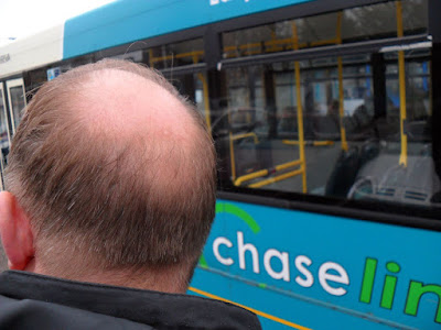 The Bald Spot at Cannock Bus Station.