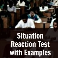 Situation Reaction Test with Examples