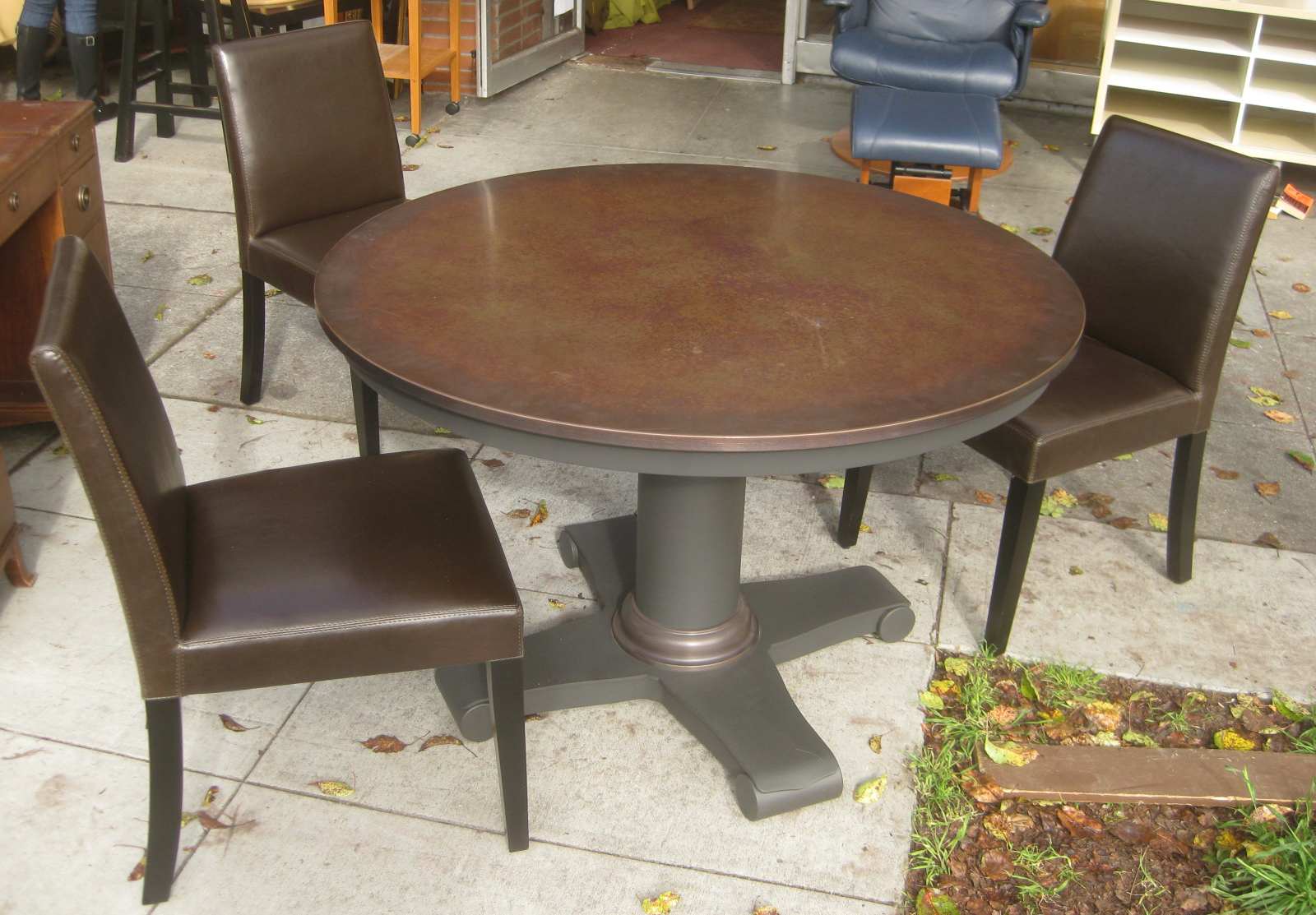 UHURU FURNITURE COLLECTIBLES SOLD Table of 4 Metals and 3