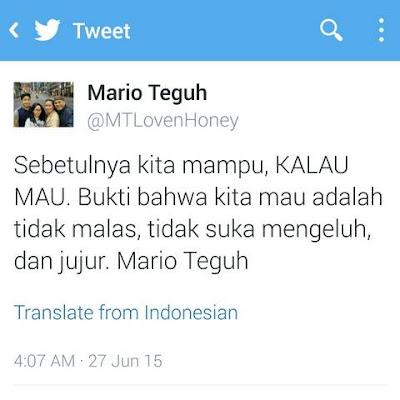 Mario Teguh : Kita Mampu Kalau Kita Mau