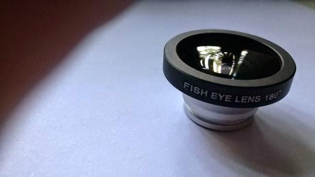 Memakai lensa fisheye