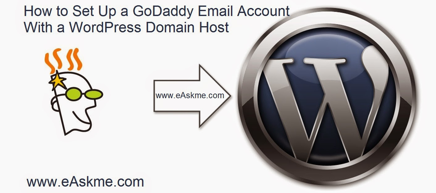 How to Set Up a GoDaddy Email Account With a WordPress Domain Host : eAskme