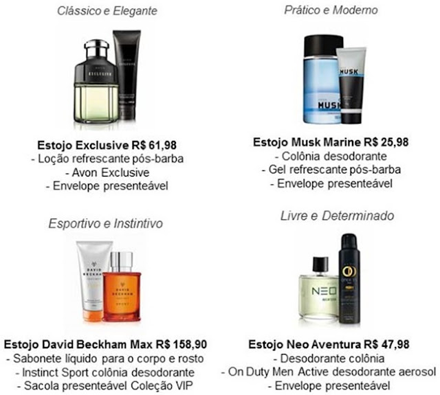 Dia dos Pais, Avon, Kits Presenteáveis, Perfume, Homens,