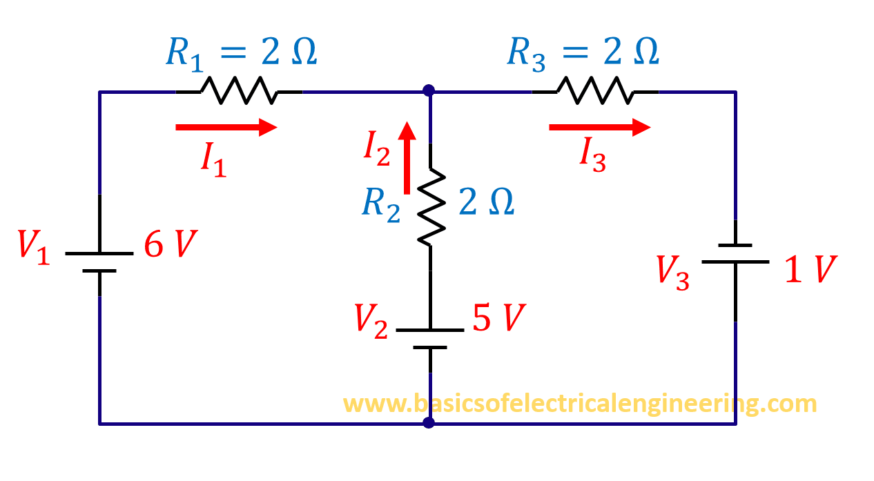 Branch Current Analysis Basics Of Electrical Engineering Resistors In Series And Parallel Solution Step 1