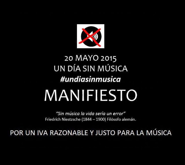 20 de Mayo, día sin música - Contra el 'ivazo' cultural