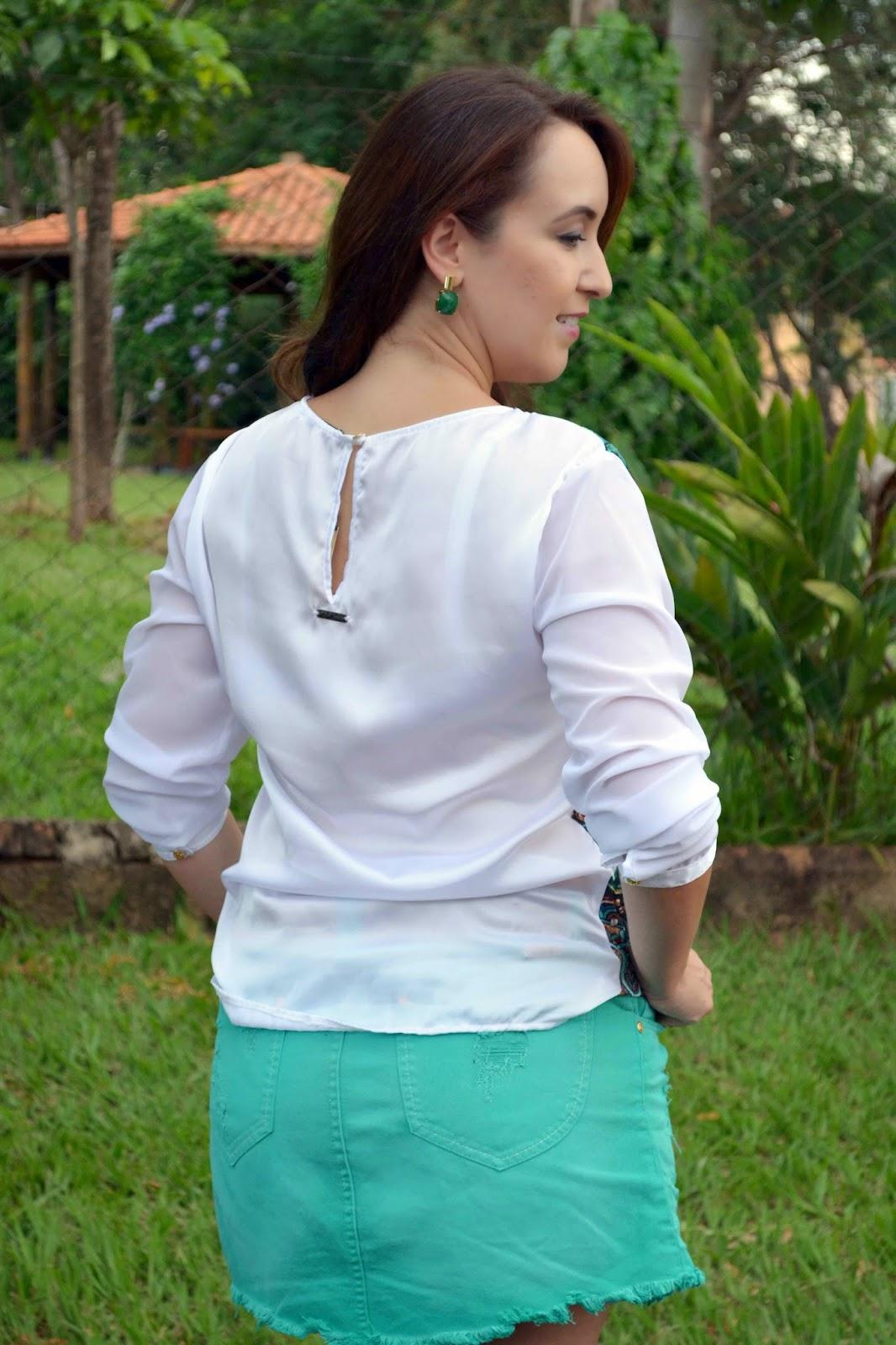 saia verde, blusa estampada, cintos femininos, look do dia, look de blogueira, blog camila andrade, blog de moda em ribeirão preto, blogueira de moda em ribeirão preto, fashion blogger, look do dia, pamela zanandréa