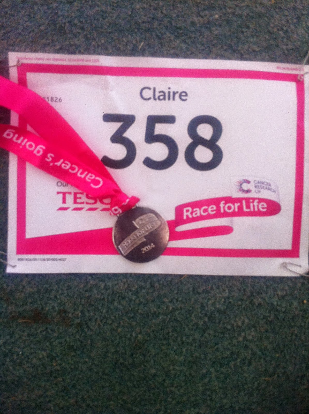 Couch to 5K programme and Race for Life